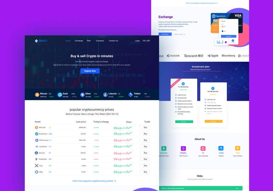Contest Entry #                                        15                                      for                                         Ui designing for Static pages of a Crypto platform.