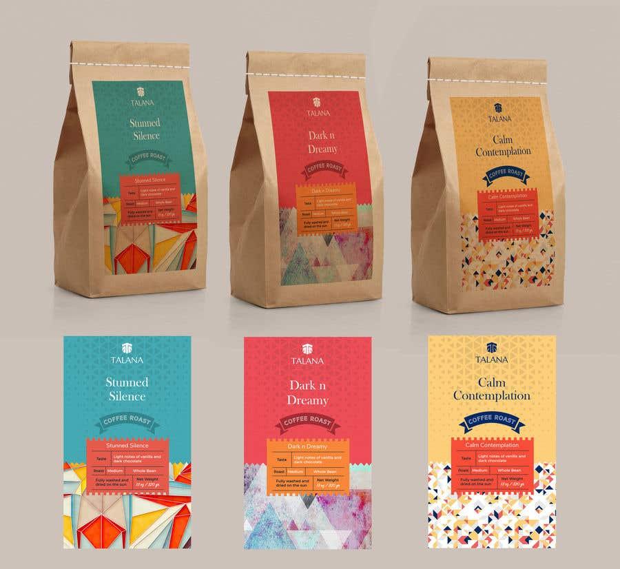 Kilpailutyö #                                        130                                      kilpailussa                                         Talana Coffee package label design