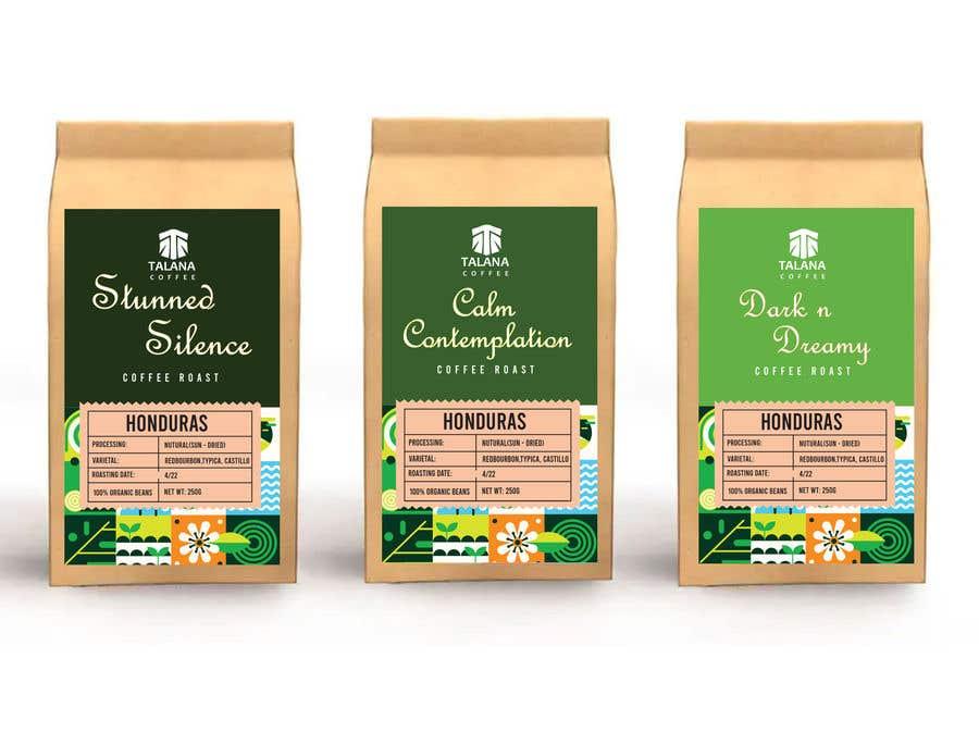 Kilpailutyö #                                        128                                      kilpailussa                                         Talana Coffee package label design