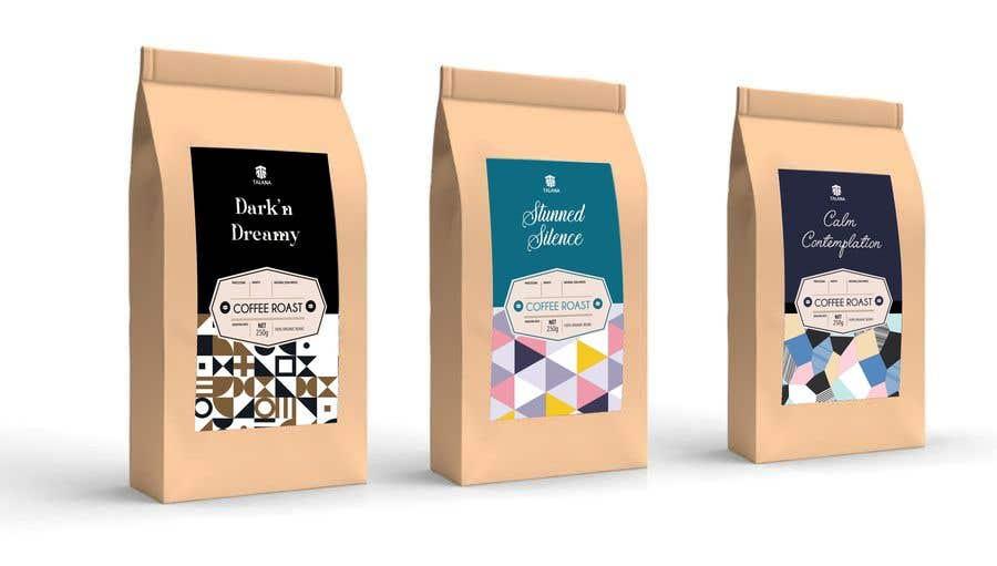 Kilpailutyö #                                        126                                      kilpailussa                                         Talana Coffee package label design