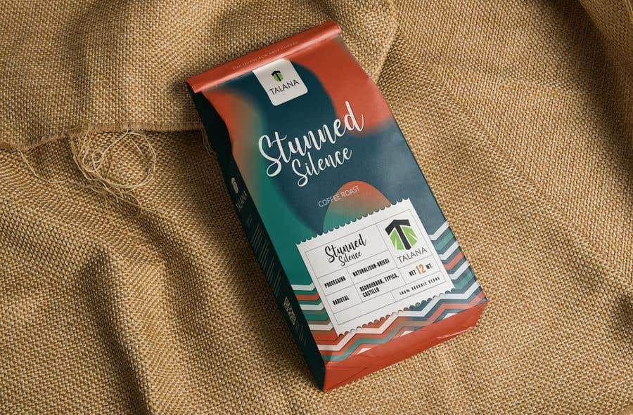 Kilpailutyö #                                        105                                      kilpailussa                                         Talana Coffee package label design