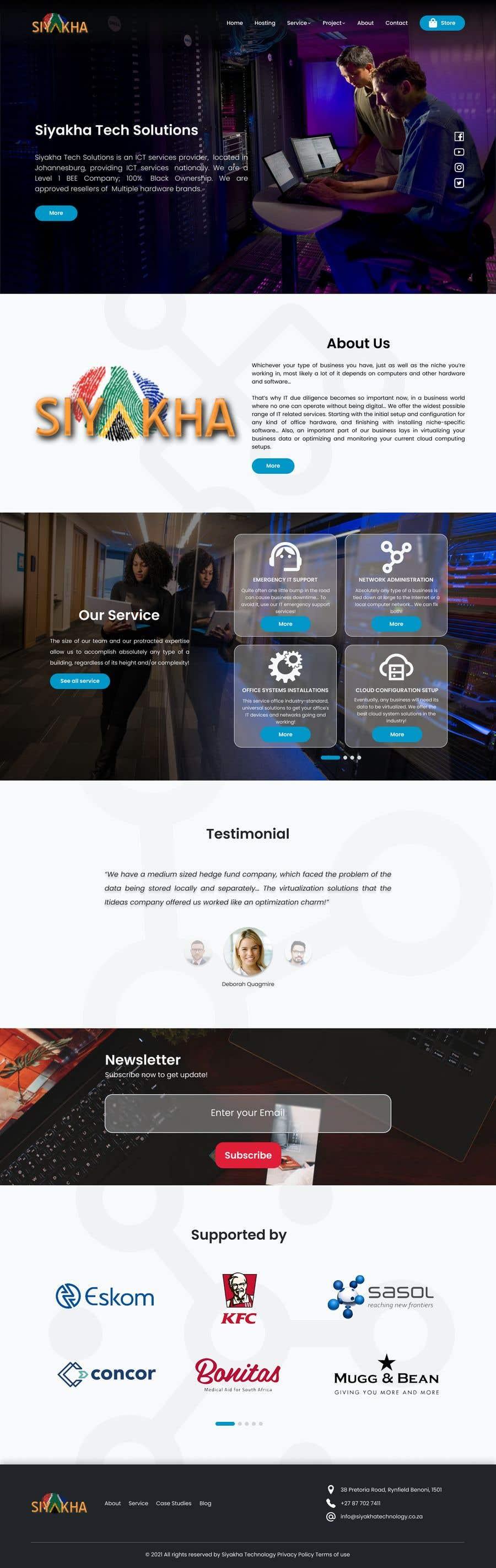 Kilpailutyö #                                        21                                      kilpailussa                                         Redesign - www.siyakhatechnology.co.za