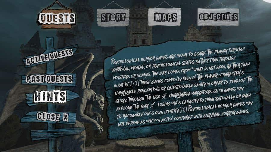 Contest Entry #                                        7                                      for                                         Make Horror Game UI (VR)