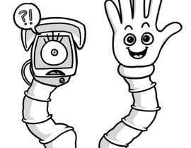 #54 для Draw me two robot-arm cartoon characters от meghpals
