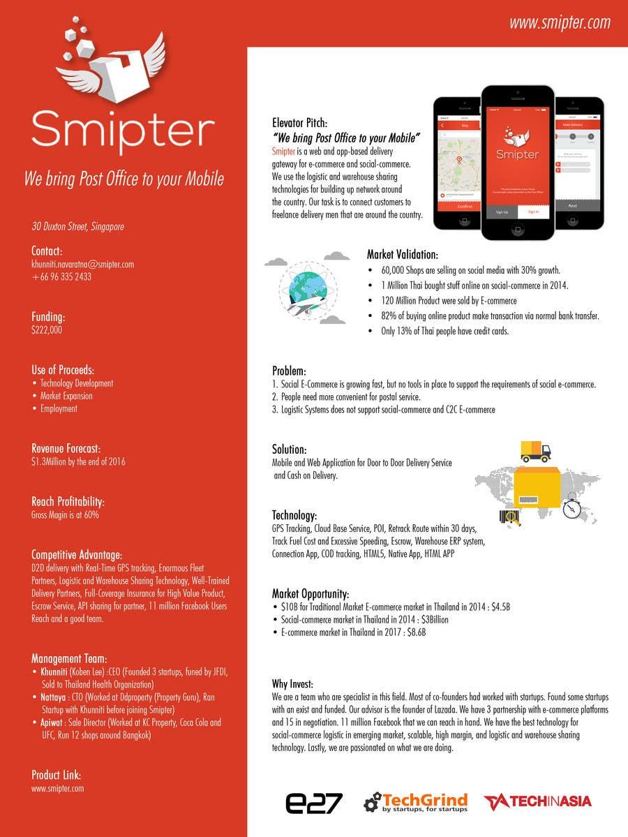 Contest Entry #                                        9                                      for                                         Design an A4 Brochure for Smipter's Executive Summary