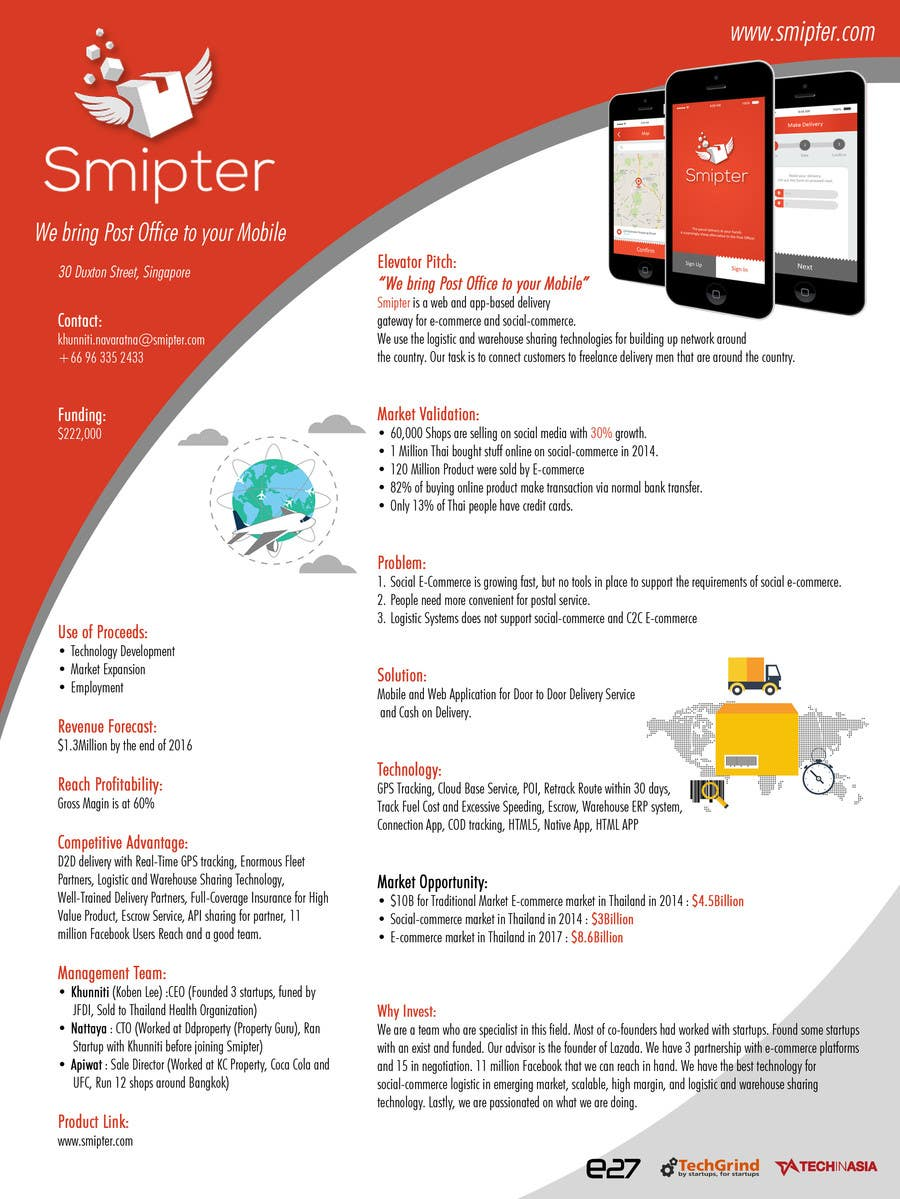 Contest Entry #                                        11                                      for                                         Design an A4 Brochure for Smipter's Executive Summary
