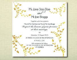 #23 untuk Design some Stationery for a Wedding oleh jvzpix