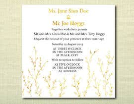 #34 untuk Design some Stationery for a Wedding oleh jvzpix