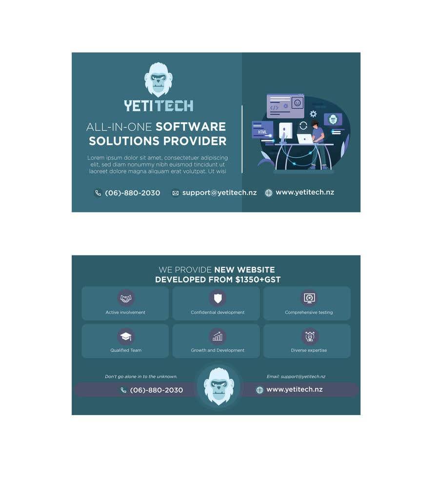 Konkurrenceindlæg #                                        62                                      for                                         EASY WORK: Design Marketing Post cards for Web Development company - 07/04/2021 22:29 EDT