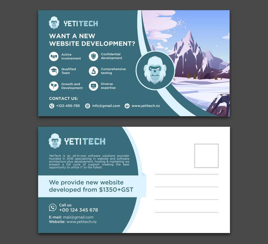 Konkurrenceindlæg #                                        29                                      for                                         EASY WORK: Design Marketing Post cards for Web Development company - 07/04/2021 22:29 EDT