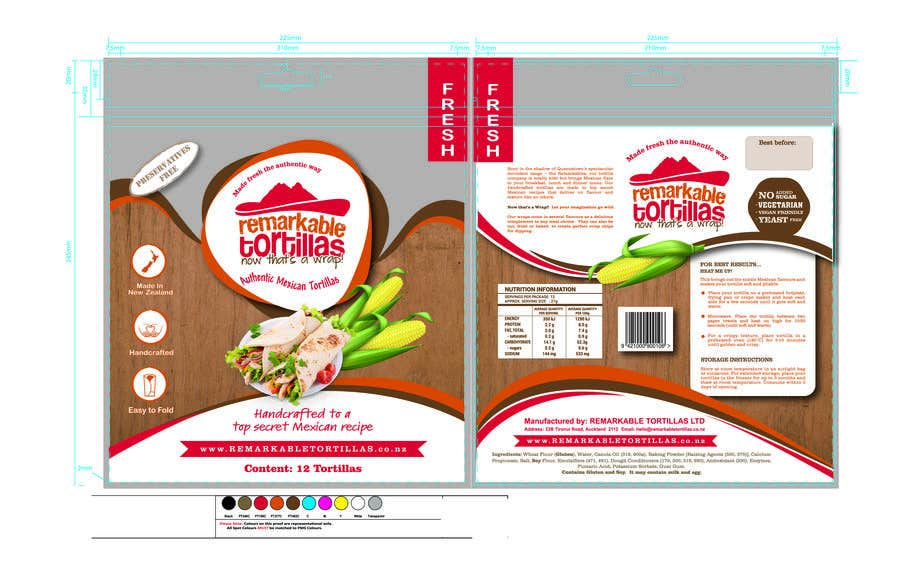 Kilpailutyö #                                        28                                      kilpailussa                                         Extra Soft Corn Tortilla