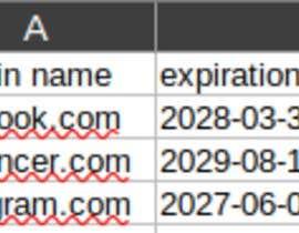 #12 for Small Python script for bulk WHOIS export af IkramPy