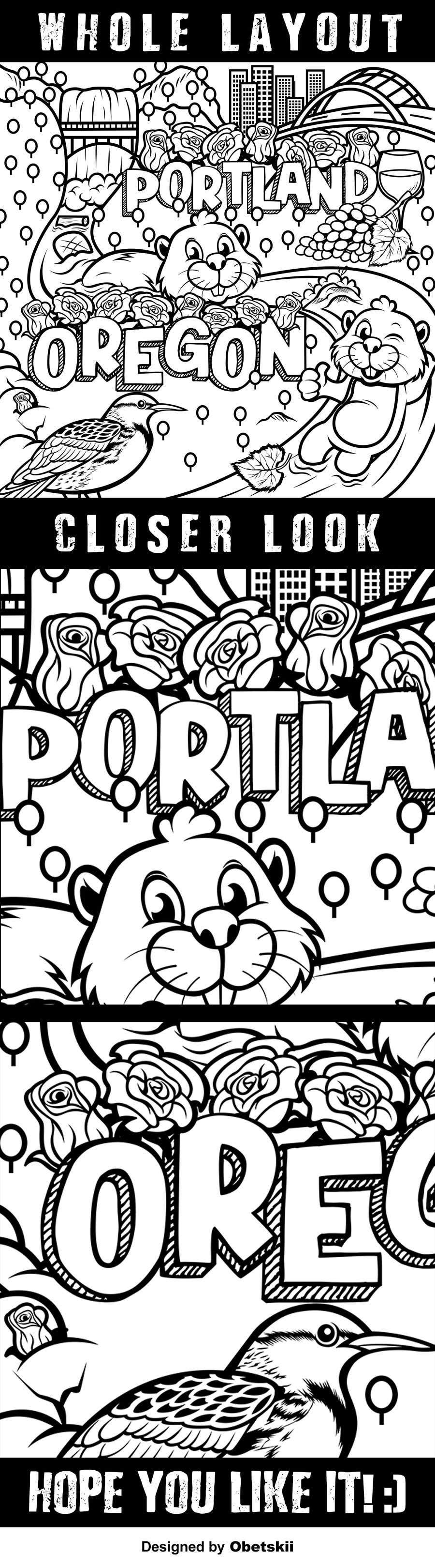 Penyertaan Peraduan #                                        51                                      untuk                                         Draw a coloring page for a Portland, Oregon restaurant