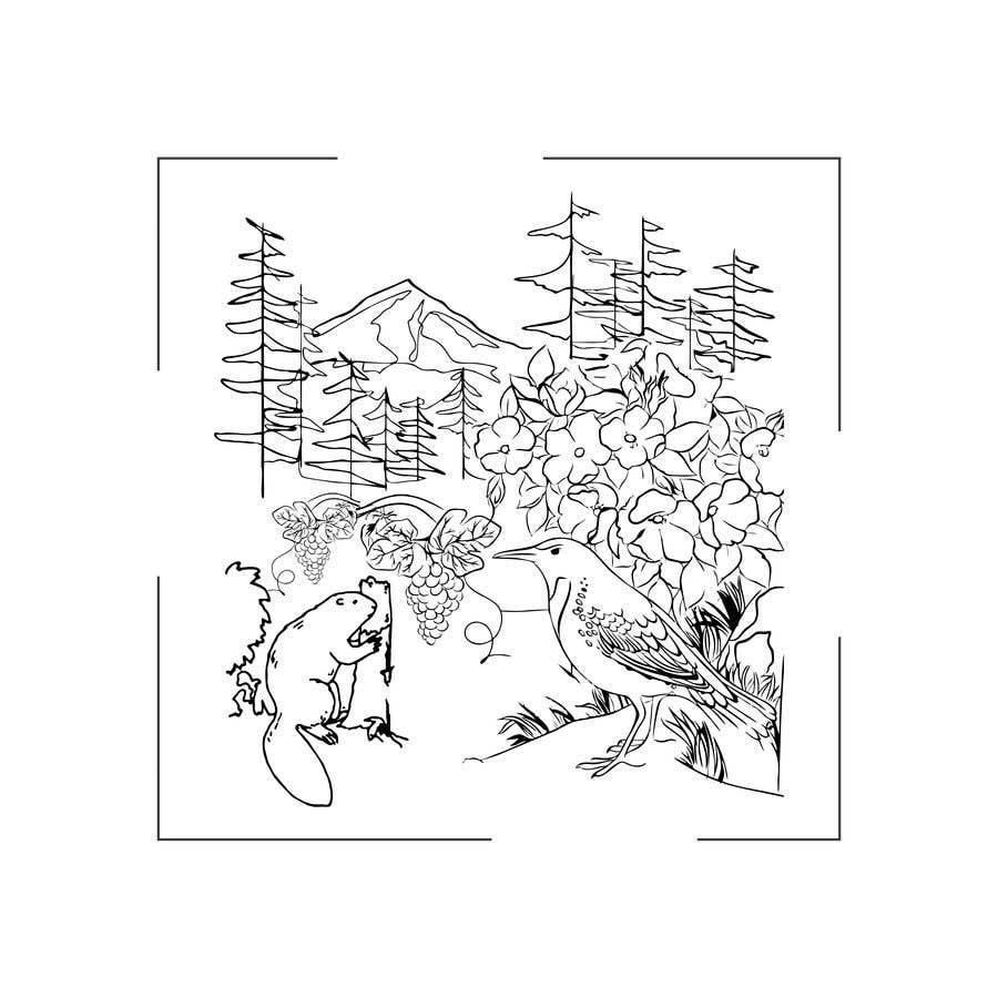 Penyertaan Peraduan #                                        34                                      untuk                                         Draw a coloring page for a Portland, Oregon restaurant