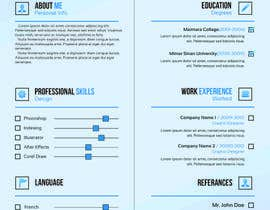 #71 for A inventive Resume template by Fgny85