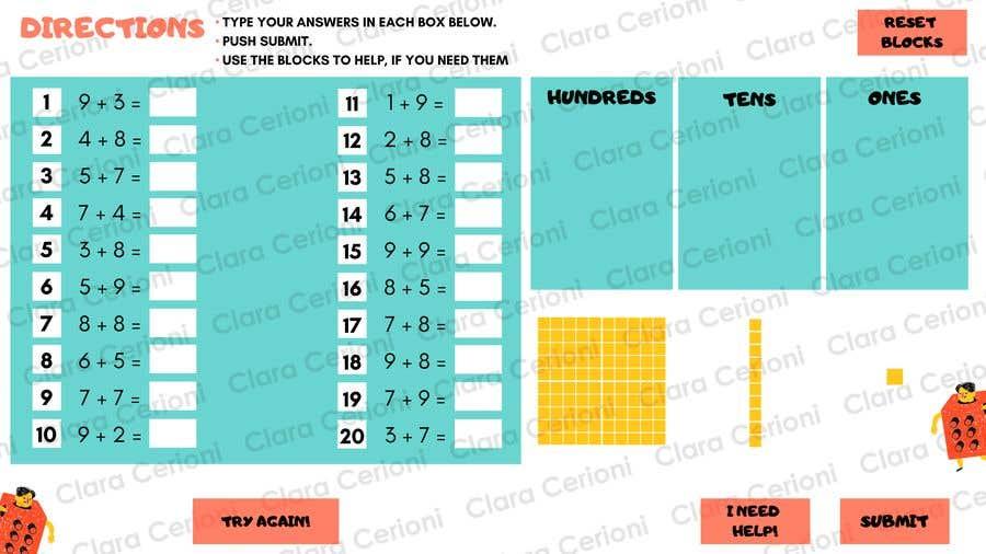 Kilpailutyö #                                        14                                      kilpailussa                                         Contest - Redesign 1 page Math Sheet