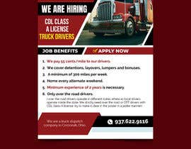 #45 for Poster for Hiring CDL class-A Truck drivers for Liberty truck lines af savitamane212