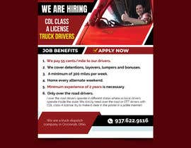 #46 for Poster for Hiring CDL class-A Truck drivers for Liberty truck lines af savitamane212