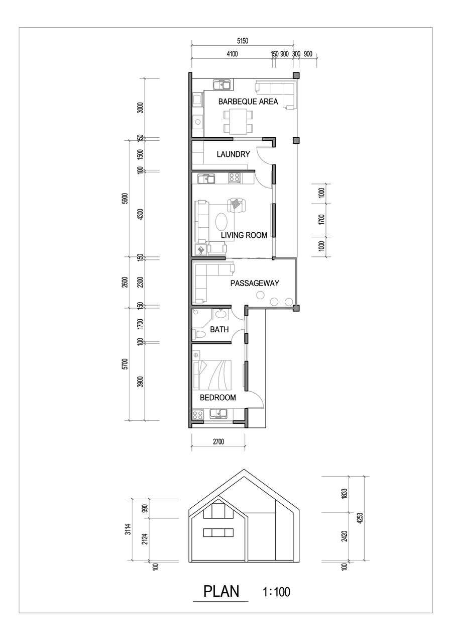 Proposition n°                                        32                                      du concours                                         Design garage and shed into living space