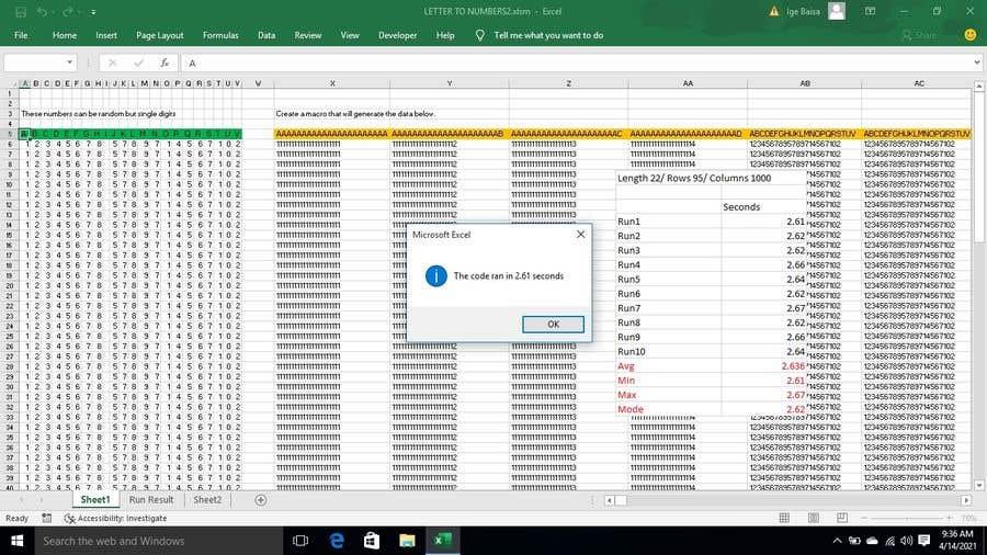 Kilpailutyö #                                        12                                      kilpailussa                                         Excel Macro