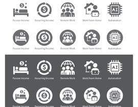 #29 untuk Design 5 icons oleh freelancerthebes