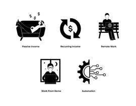 #33 untuk Design 5 icons oleh rhasandesigner