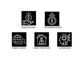 #17 untuk Design 5 icons oleh Shafik25