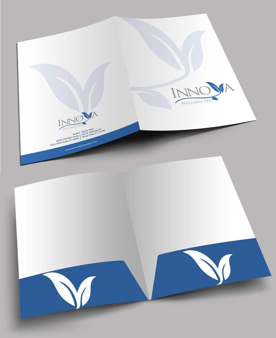 Contest Entry #                                        30                                      for                                         Design a Folder for a high end medical spa