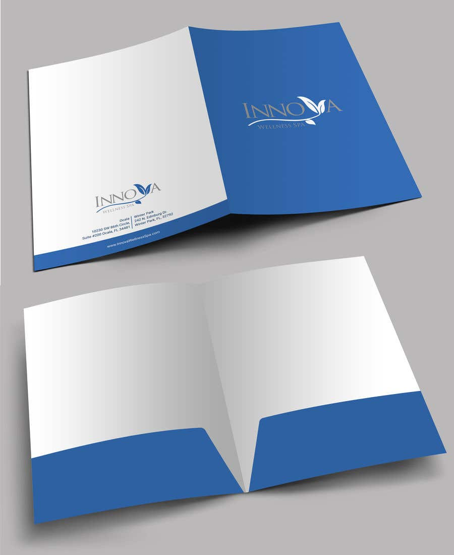 Contest Entry #                                        36                                      for                                         Design a Folder for a high end medical spa