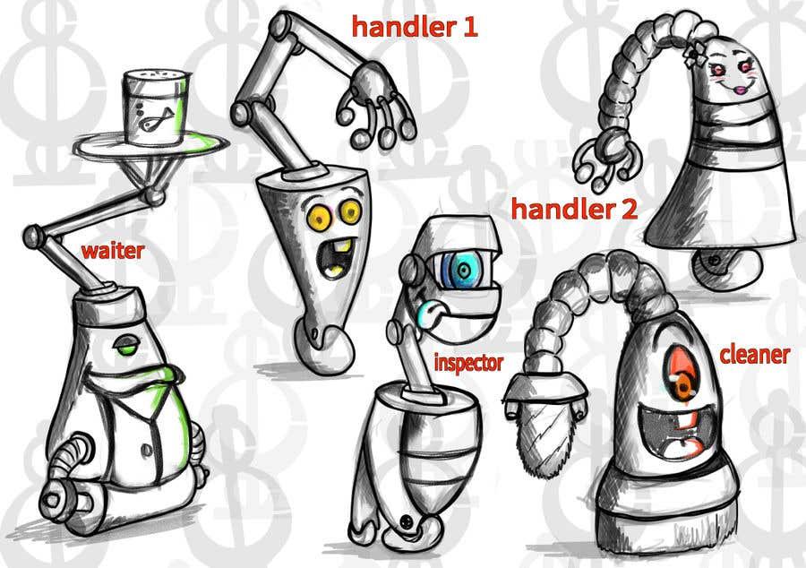 Penyertaan Peraduan #                                        50                                      untuk                                         Draw us 5 goofy robots
