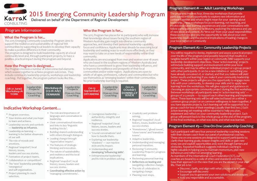 Konkurrenceindlæg #3 for Design a Brochure for this program