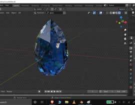 Nro 1 kilpailuun I need a 3d crystal object that can be similar to this or different that rotates. käyttäjältä AJeyCG