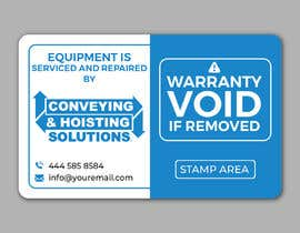 #119 for Sticker Design for service/repair of equipment by alakram420