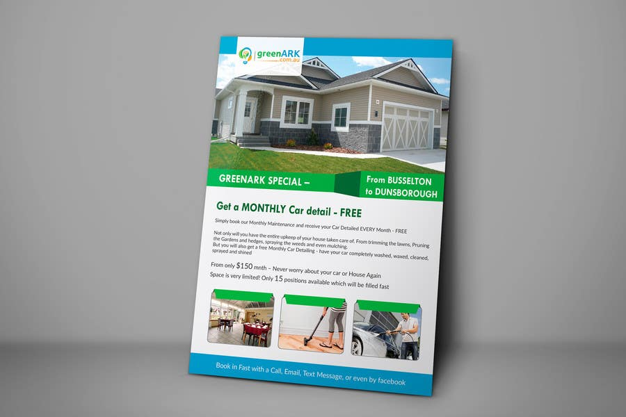 Contest Entry #                                        18                                      for                                         Design a Flyer for GreenArk Property Maintenance