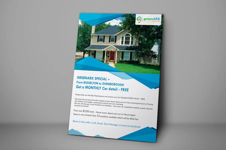 Contest Entry #                                        19                                      for                                         Design a Flyer for GreenArk Property Maintenance