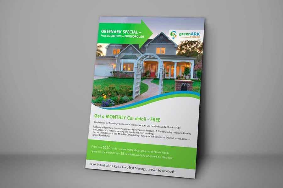 Contest Entry #                                        21                                      for                                         Design a Flyer for GreenArk Property Maintenance