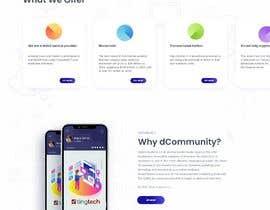 Nro 16 kilpailuun Web page design - Influencers käyttäjältä ChaYanDee