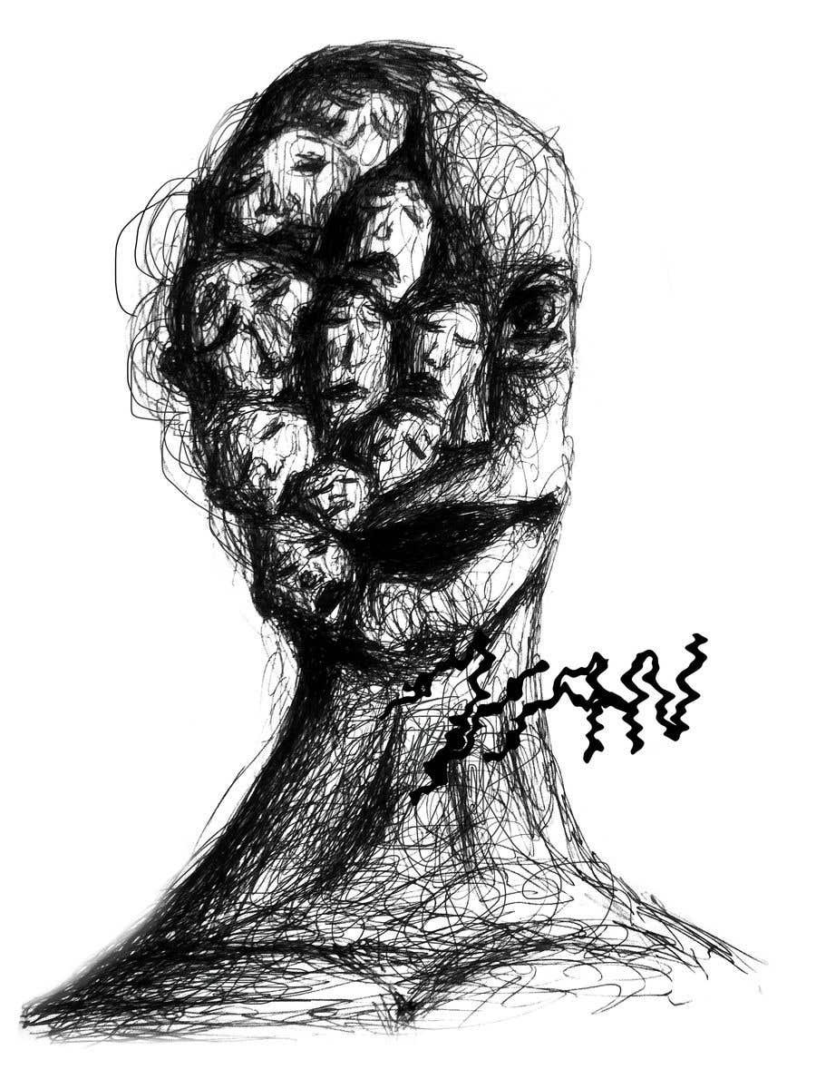 Kilpailutyö #                                        28                                      kilpailussa                                         Scribbled dark art