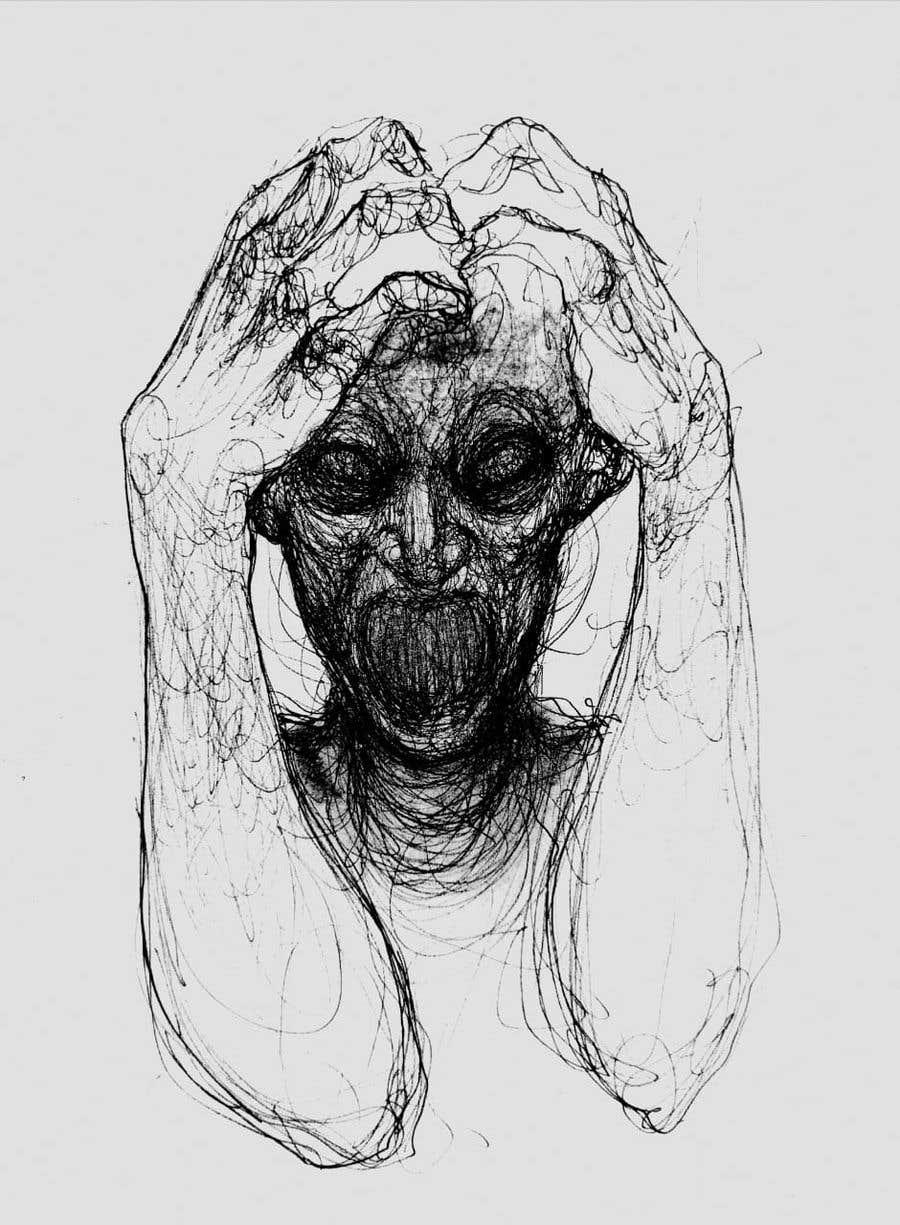 Kilpailutyö #                                        32                                      kilpailussa                                         Scribbled dark art