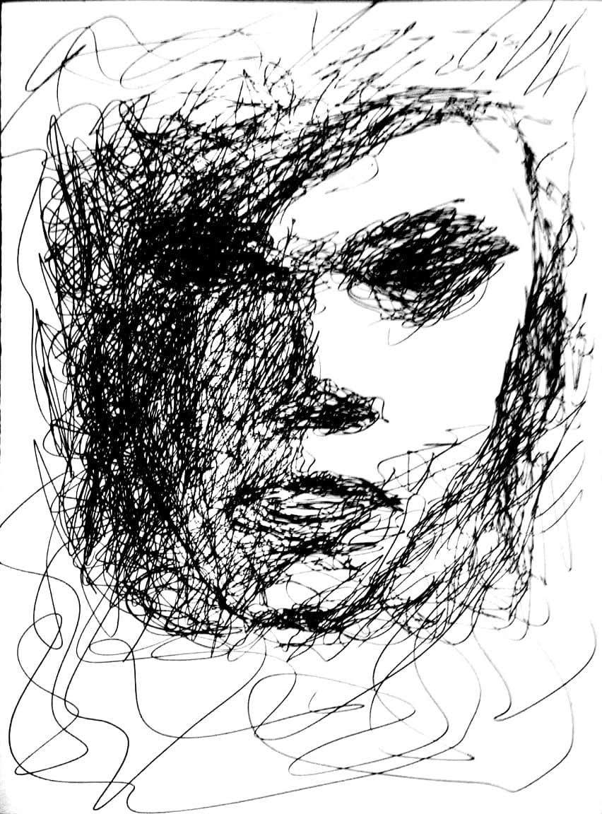 Kilpailutyö #                                        21                                      kilpailussa                                         Scribbled dark art