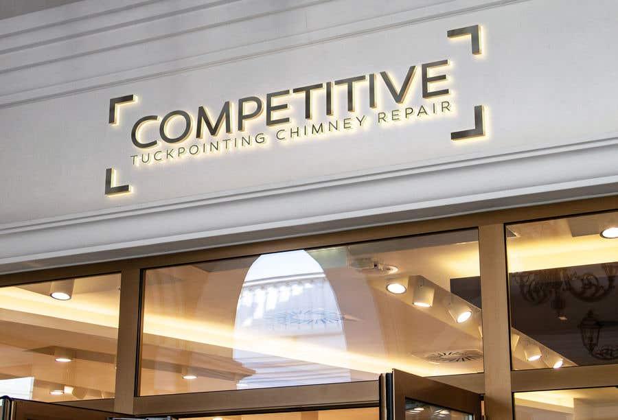 Kilpailutyö #                                        93                                      kilpailussa                                         Logo for tuckpointing & chimney repair company