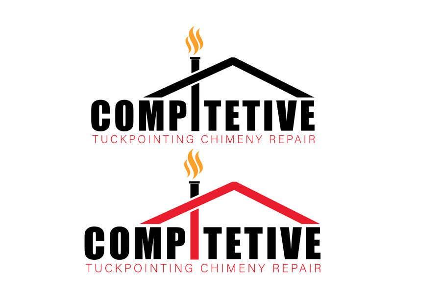 "Intrarea #                                        15                                      pentru concursul ""                                        Logo for tuckpointing & chimney repair company                                     """