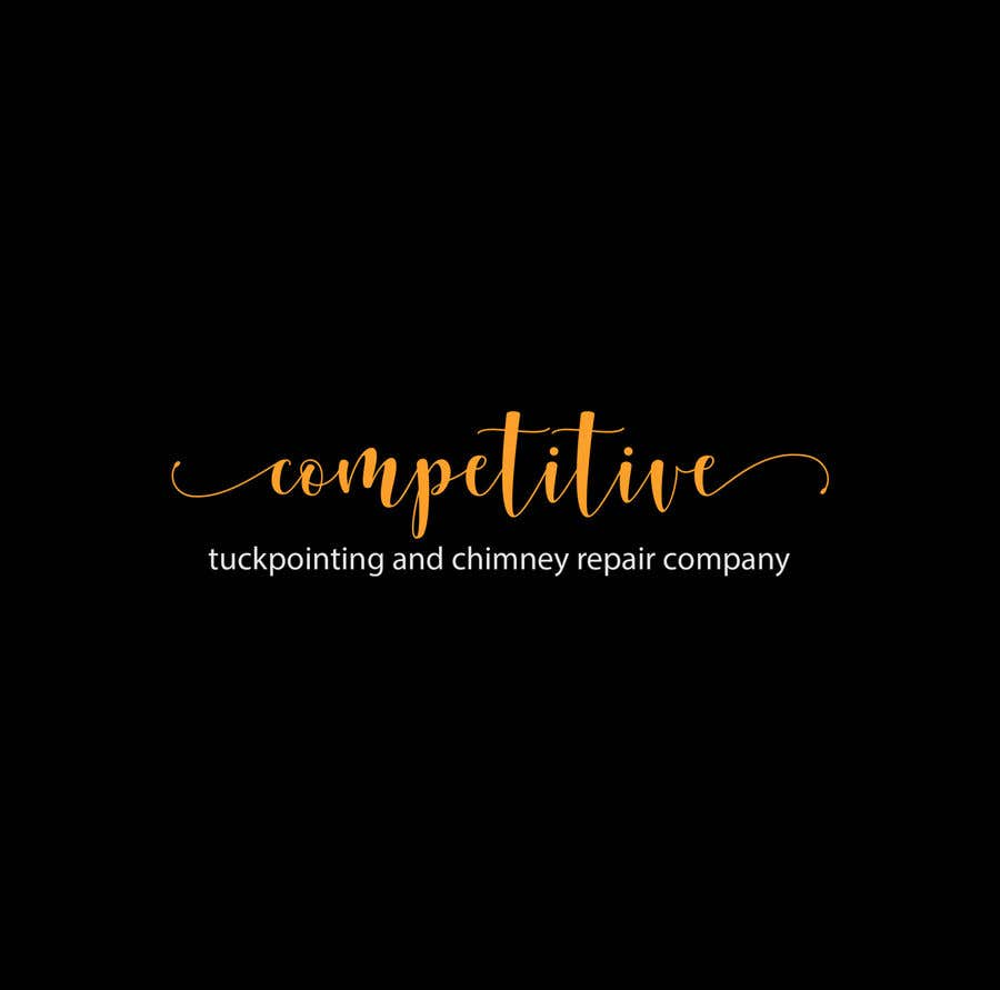 "Intrarea #                                        88                                      pentru concursul ""                                        Logo for tuckpointing & chimney repair company                                     """