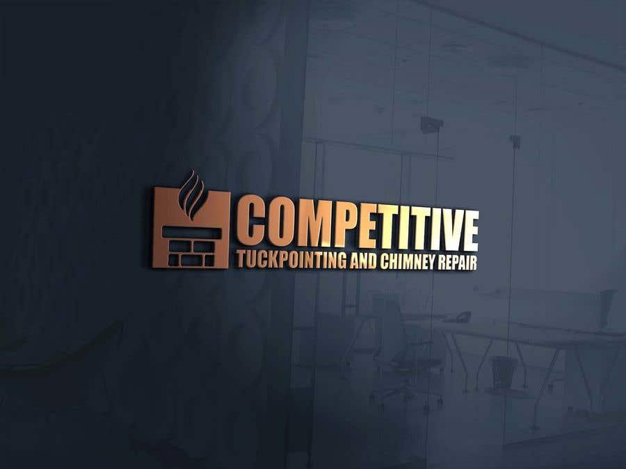 "Intrarea #                                        64                                      pentru concursul ""                                        Logo for tuckpointing & chimney repair company                                     """
