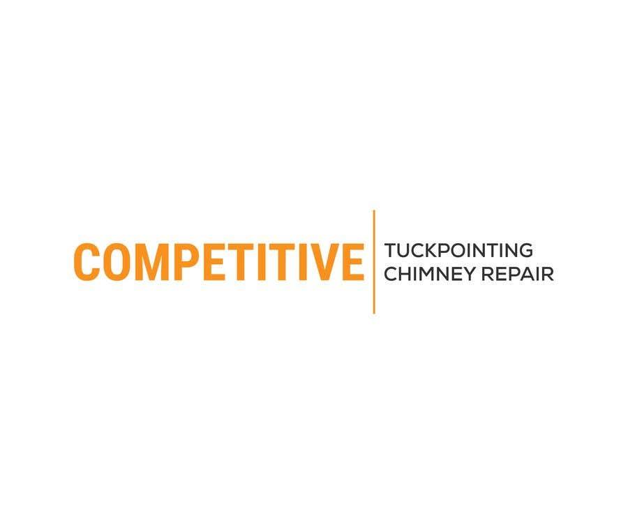 Kilpailutyö #                                        101                                      kilpailussa                                         Logo for tuckpointing & chimney repair company