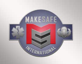 nº 40 pour MakeSafe International Non Profit Casualty Extraction and Explosive Ordnance Disposal service logo contest par fingerburns