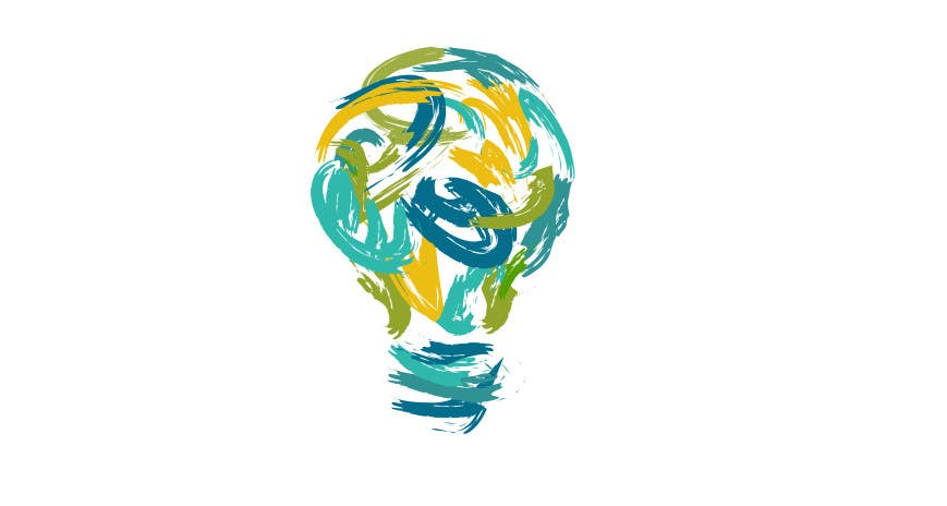 Contest Entry #                                        23                                      for                                         Design an light bulb in an abstract modern hand drawing style