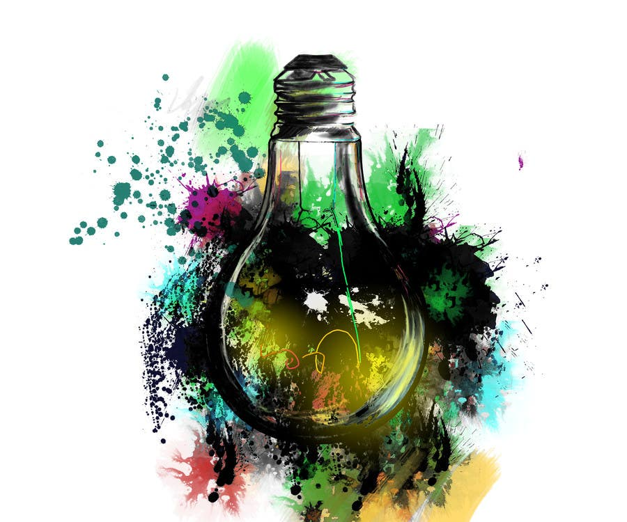 Proposition n°                                        26                                      du concours                                         Design an light bulb in an abstract modern hand drawing style