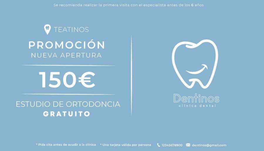Konkurrenceindlæg #                                        32                                      for                                         Tarjeta regalo de estudio de ortodoncia