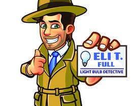 "#31 for Cartoon Character of a ""Light Bulb Detective"" by agungmalang"